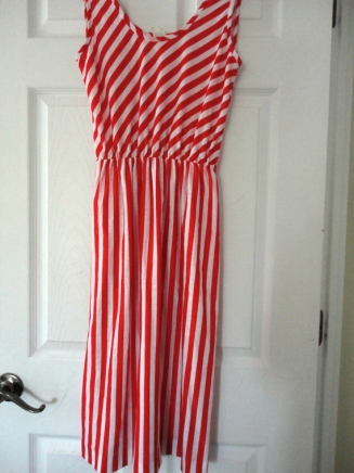 Candy Striped Dress from Etsy