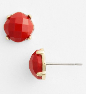 Cushion Cut Stone Stud Earrings by Ariella